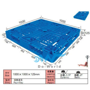 Plastic Pallet in Size 1000*1000*125mm (DW-1010A) pictures & photos