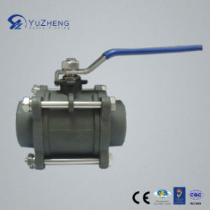 3PC Carbon Steel Wcb Ball Valve with Bw Connection pictures & photos