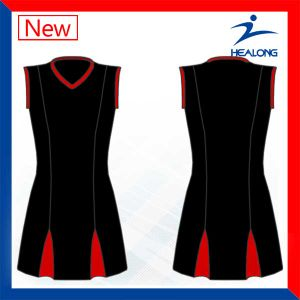 Customized Full Sublimation Netball Dress 2017 New Design pictures & photos