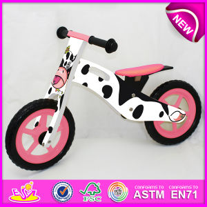 2014 Cute Design Wooden Bicycle Toy for Kids, Cheap Wooden Bike Toy for Children, Hot Sale Wooden Balance Bicycle for Baby Factory W16c077 pictures & photos