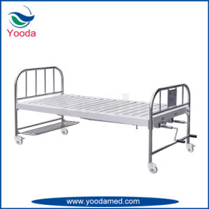 Stainless Steel Medical Equipment Two Crank Hospital Bed pictures & photos