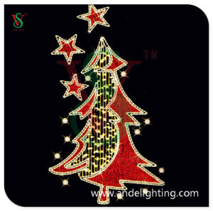 Red Christmas Tree Light Mounted on Pole Street Light pictures & photos