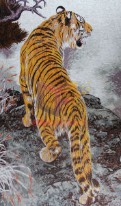 Tiger Art Mosaic Picture Made by Hand-Cut Glass (CFD230) pictures & photos