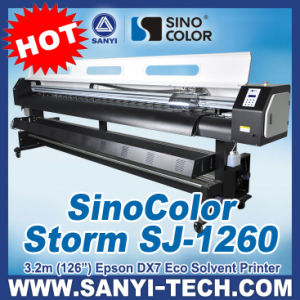 3.2m, Digital Printer Eco Solvent, Sinocolor Sj1260, with Dx7 Head pictures & photos