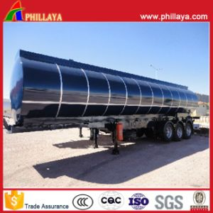 3 Axles Pitch Asphalt Tank for Semi Truck Trailer pictures & photos