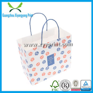 Custom Logo Printed White Kraft Paper Bag Wholesale pictures & photos