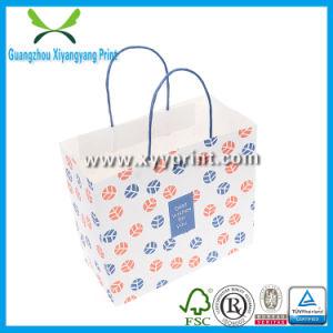 Custom Logo Printed White Kraft Paper Bag Wholesale pictures & photos
