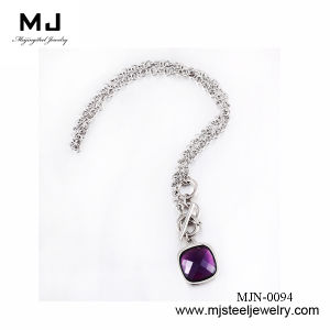 Hottest Crystal Stainless Steel Necklace in 2013 Mjn-0094