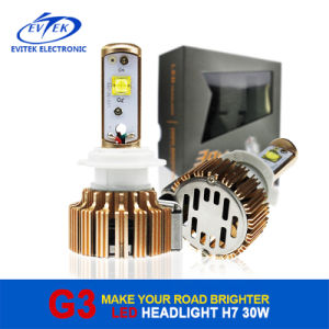G3 Gold Rose LED Headlight H7 30W 3000lm Motorcycle Bulbs pictures & photos