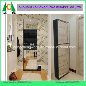 5 Doors Mirrored Shoe Cabinet pictures & photos