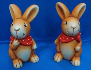 Polyresin Easter Day Rabbits Polyresin Craft Home Decoration (JN58914) pictures & photos
