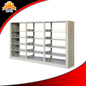 School Library Use Customized Steel Double Column Bookshelf pictures & photos