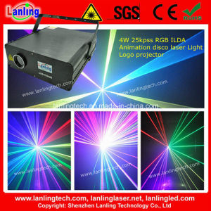 4W RGB 25kpss Ilda Animation Laser Logo Projector pictures & photos
