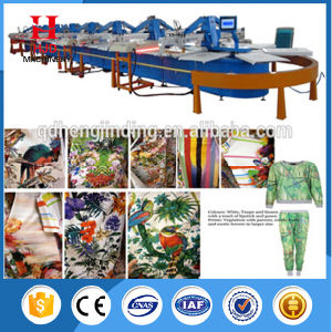 Automatic Fabric Oval Silk Screen Printing Machine with Hjd-a pictures & photos