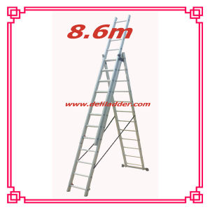 3 Section Extension Ladder 8, 6m (DLE312) pictures & photos