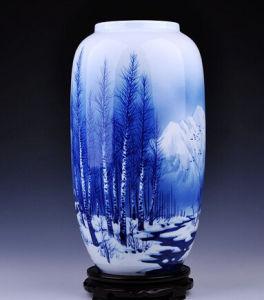 Jingdezhen Antique Porcelain Blue and White Hand-Painted Vase