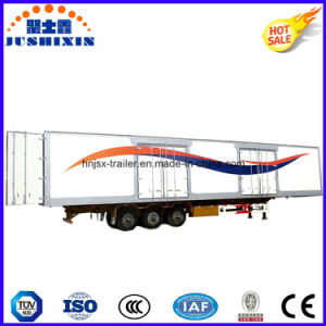 Hot Selling 3 BPW Axles Aluminium-Riveted 13 Meters Box/Van Type Semi Truck Trailer Sold to The Southeast Asia Market pictures & photos