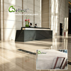 China White Wood Floor Wall Marble Tile for Hotel/Villa/Commercial Building pictures & photos