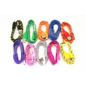 Colorful Textile Braided Noodle USB Cable for iPhone 5s pictures & photos