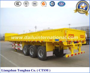 Manufacturer Sidewall/Drop Side Bulk Cargo Transport Semi Trailer pictures & photos