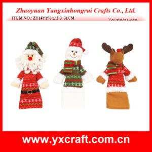 Christmas Decoration (ZY14Y196-1-2-3) Christmas Wine Cover Wine Bag Set pictures & photos