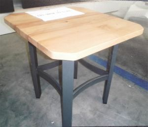 Gym and Mission Style with Wood and Metal Dining Table