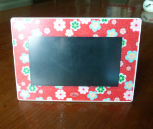 7 Inch Digital Photo Frame with Colorful Frame UV Printed pictures & photos