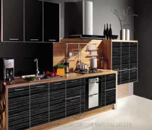 Glossy Black Kitchen Cabinet, Contemporary High Glossy Kitchen Cabinet