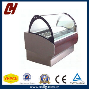 Curved Glass Icecream Display Case for Sale pictures & photos