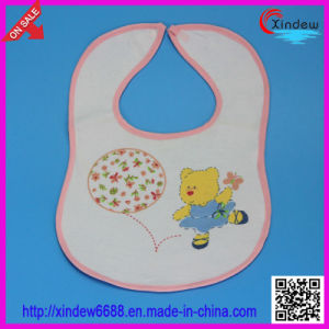 Baby′s Cotton Printed Bib with Bear Pattern pictures & photos