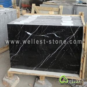 Great a Black Marquina Nero Marquina Marble Flooring Tile pictures & photos