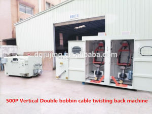 Vertical Double Bobbin Cable Wire Back Twist Bunching Machine Cable Making Machine pictures & photos