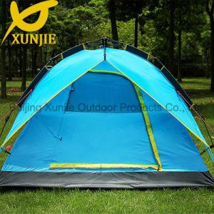 Sky Blue Camping Automatic Tent with Fiberglass Pole pictures & photos