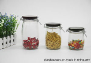 Glass Food Storage Jar with Wooden Lid