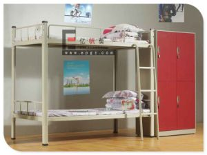 Bedroom Furniture Steel Frame Bunk Bed with Wardrobe pictures & photos