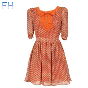 Ladies Chiffon Printting Dress