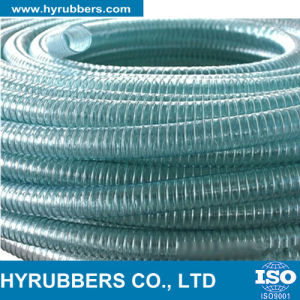 Hyrubbers Transparent PVC Steel Wire Reinforced Hose pictures & photos