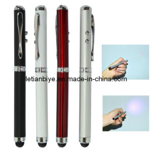 Metal Touch Pen with LED Light and Laser (LT-Y116) pictures & photos