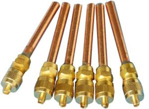 Copper Access Valve, Charging Valve 1/4′′*70mm pictures & photos