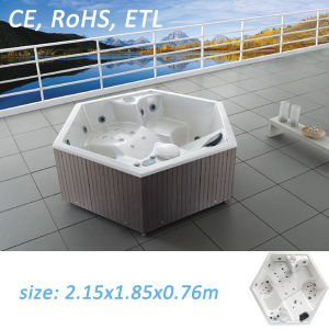 hexagon hot tub