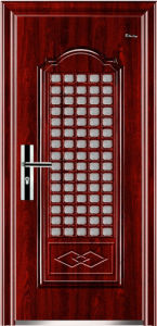 Steel Security Door with Window pictures & photos