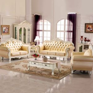Living Room Sofa Set with Wood Table for Living Room Furniture pictures & photos