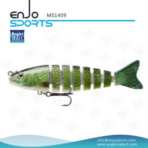 Multi Jointed Plastic Fishing Lures Sinking Bait Trible Hook Fishing Tackle pictures & photos