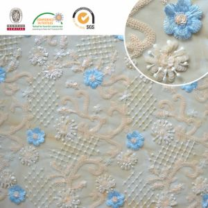 F138 Colorful Sequin Lace Polyester Embroidery Mesh Wedding Fabric pictures & photos