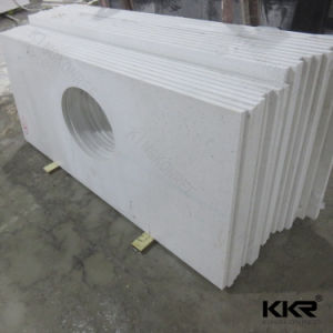 Hot Design Corian Solid Surface Vanity Top for Hotel Project pictures & photos