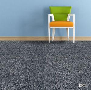 He -1/10 Gauge Flooring Flat Loop Jacquard Carpet Tile with Bitumen Backing pictures & photos