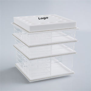 New Design White Color 4 Tier Acrylic Lipstick Holder pictures & photos