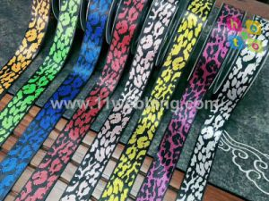 Leopard Print Jacquard Webbing for Bag, Clothing, Garment, Shoes, Luggage, Ornament, Lanyard Accessories pictures & photos