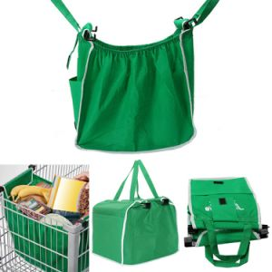 Non-Woven Folding Recylcled Trolley Supermarket Grocery Shopping Cart Bag pictures & photos