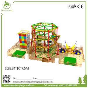 Colorful Overall Design Rainbow Theme Indoor Playground Rope Course pictures & photos